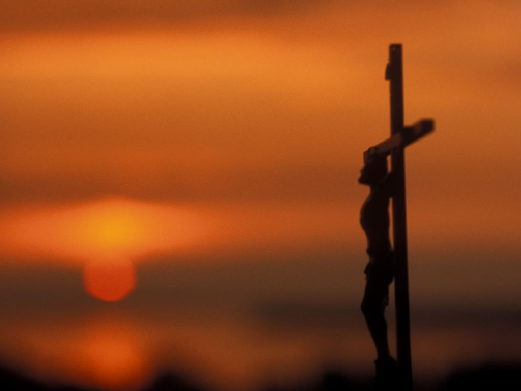 "Catholic Crucifix Wallpaper ""we Become What we Love And"