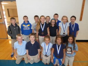 IMMACULATE CONCEPTION SCHOOL, JACKSON--Students in third and fourth grades in Immaculate Conception School, Jackson, MO, took Second Place overall in the 2012 Running Monk race sponsored by the Cape Girardeau Road Runners Club. All Cape Girardeau-area Catholic schools are invited to participate. The annual Catholic Schools Week, Jan. 27-Feb. 2 this year, commemorates the gift of Catholic education. (Submitted photo)