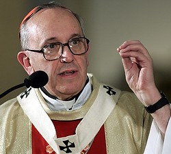 POPE FRANCIS I--The world's cardinals meeting in conclave elected Card. Jorge Mario Bergoglio of Buenos Aires, Argentina, a 76-year-old Jesuit, as pope. He took the name Francis I. He is pictured in a 2005 photo. (CNS photo/Enrique Marcarian, Reuters)