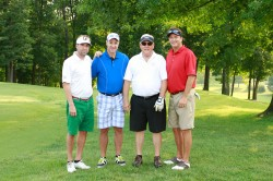 MORNING FLIGHT--The winners of the morning championship flight of the 26th annual Friends of Saint Francis Benefit Golf Tournament held at Bent Creek Golf Course in Jackson, MO were Drew Anthon, Bill Tegel, John Hauck , and Kevin Simmons. (Submitted photo)