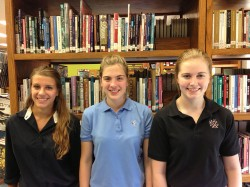 MERIT SCHOLARS--Notre Dame Regional High School, Cape Girardeau, has three National Merit Scholars semi-finalists: Madison Baumgart, Abby Ritter, Claire Schafer. (Submitted photo)