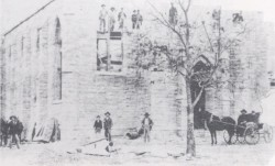 Construction of St. John the Apostle Church (1899 photo)
