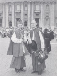 Bp. Strecker and Bp. Helmsing in attendance at Vatican II