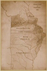 1813 Missouri Map (Used by permission, State Historical Society of Missouri, Columbia)