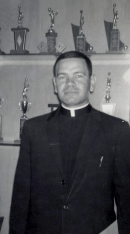 FR. SEYER CIRCA 1965—Fr. James Seyer is pictured on the occasion of his appointment as pastor of Sacred Heart Parish, Dexter, in 1965. (The Mirror)