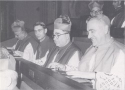 Bp. Strecker at a Vatican II Working Session