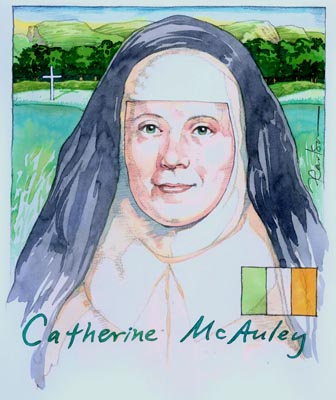 The Venerable Mother Catherine Elizabeth McAuley was an Irish nun, who founded the Sisters of Mercy in 1831. Born: September 28, 1778, Dublin, Republic of Ireland Died: November 11, 1841