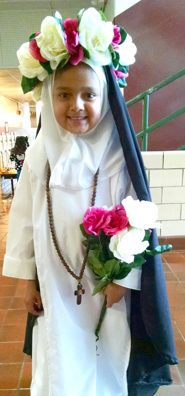 SOLEMNITY OF ALL SAINTS—Saint Rose of Lima was one of many saints that students depicted in St. Joseph Catholic Academy, Springfield, in honor of the Solemnity of All Saints, celebrated in the Church on Nov. 1, 2017.(The Mirror)