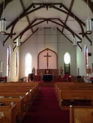 View of Altar from entrance July 23, 2017.