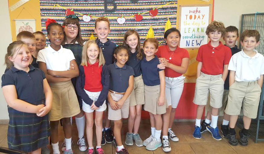 CHARITABLE WORKS BENEFIT STUDENTS & ANIMALS—Mrs. Brower's third grade class chose the Joplin Humane Society for its September dress-down charity and raised nearly $800. The class in St. Mary Catholic School, Joplin, that raised the most had the opportunity to visit the site. Students learned about the special animals at the facility and had a lot of fun in  the process. Dress-down days allow  students can make a contribution to a charity in order to be out of uniform at school. (The Mirror)
