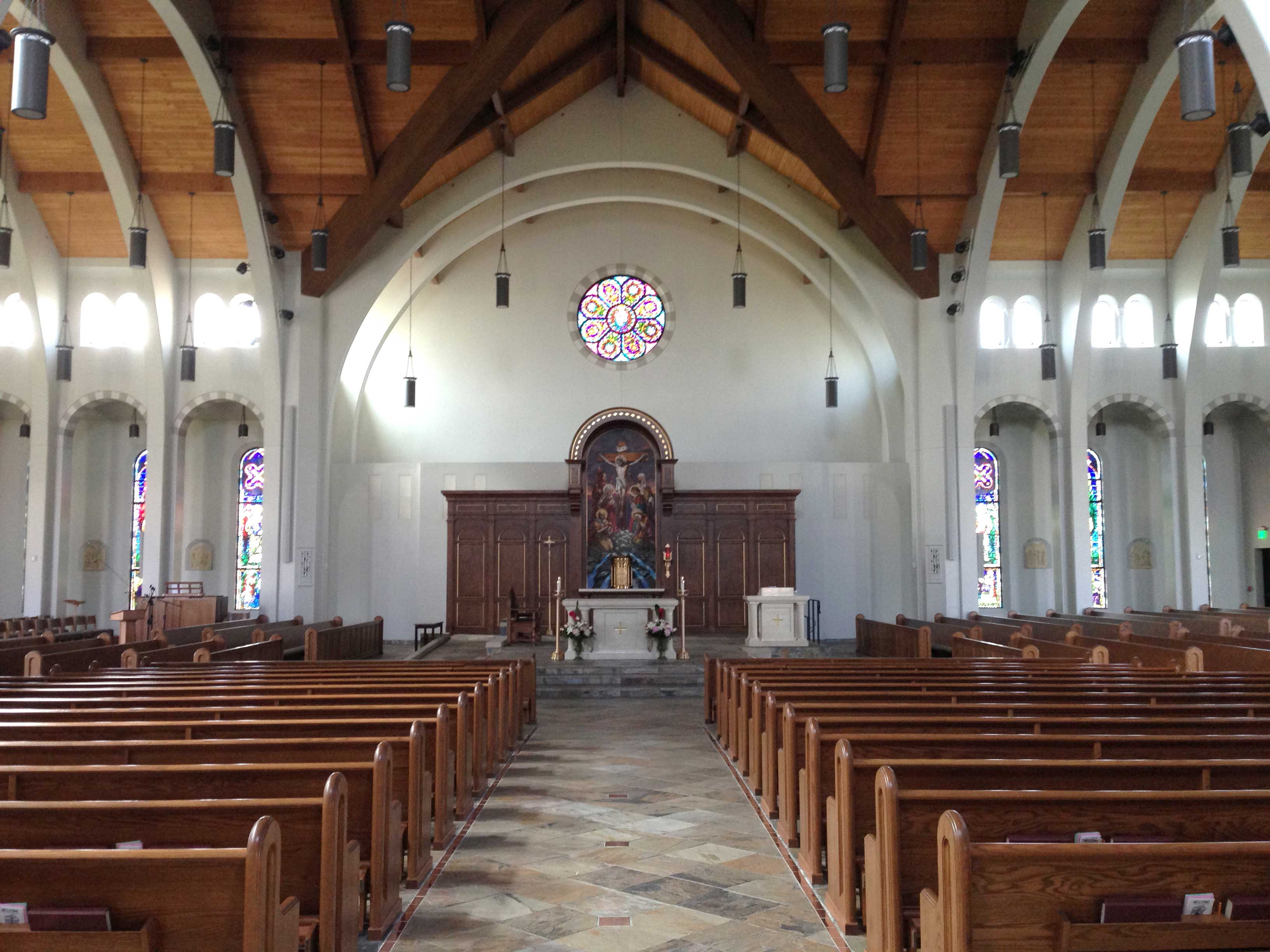 INTERIOR—View of the interior of St. Mary, Joplin, June 15, 2016. (Photo by Glenn Eckl)