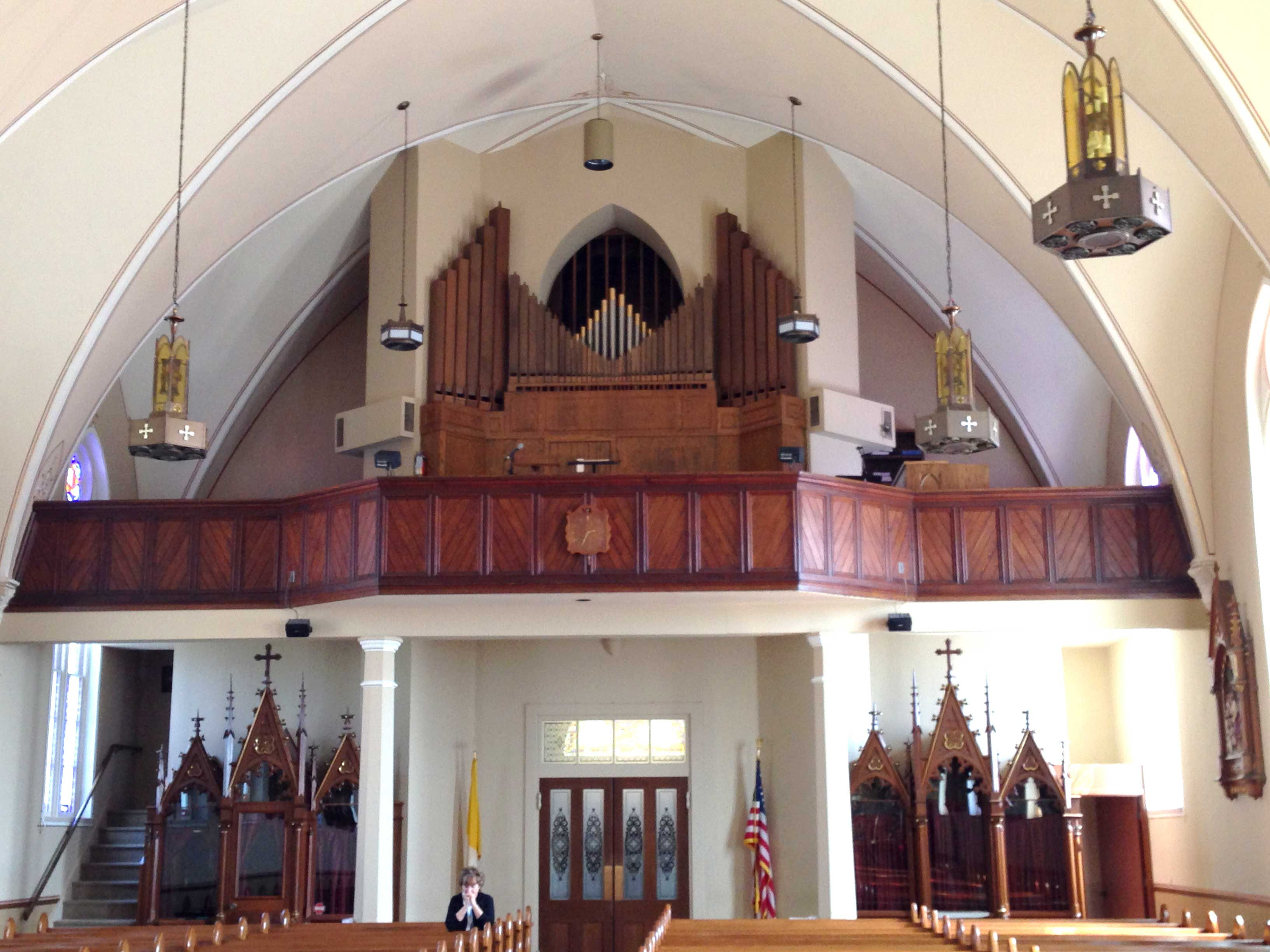 CHIOR LOFT—View of St. Augustine choir loft, Aug. 15, 2015. (Photo by Glenn Eckl)