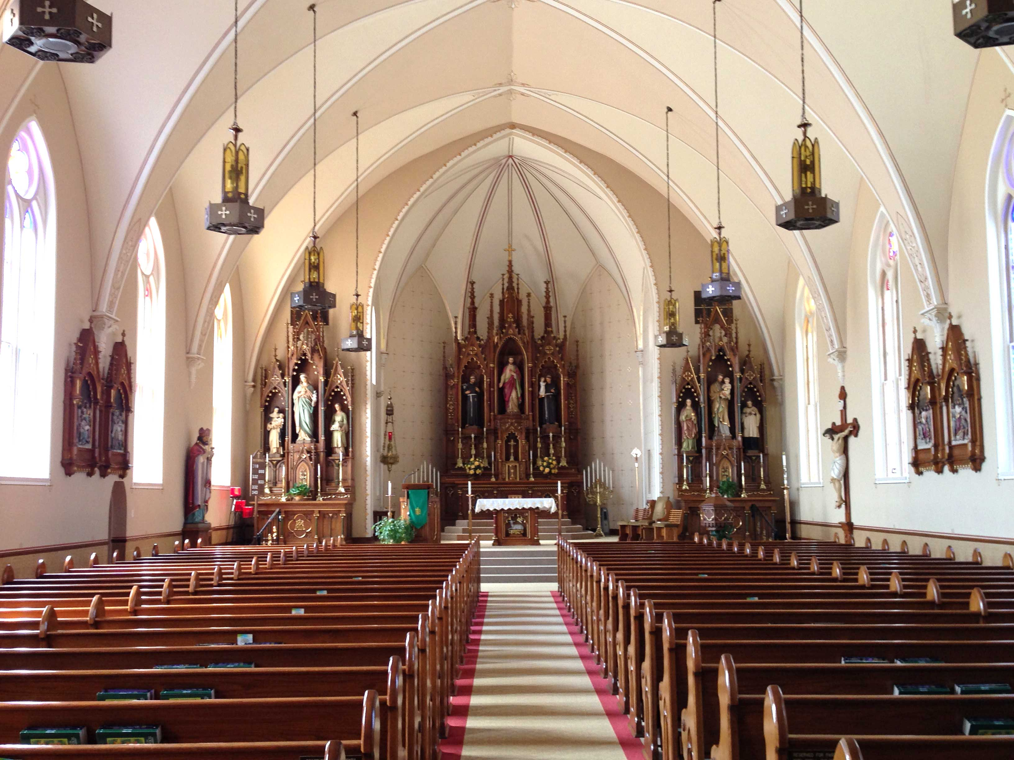 LONG VIEW—View of St. Augustine altar area, Aug. 15, 2015. (Photo by Glenn Eckl)
