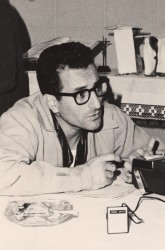 TV & RADIO APOSTOLATE—Father Frank Palermo was the Director of the Joplin area Television and Radio Apostolate in 1965. He served for several years, often defending the faith and clarifying Catholic teaching for a largely non-Catholic viewing and listening area. Father Palermo died March 3, 2018, just 23 days shy of his 63rd anniversary as a priest. He was age 88.(The Mirror archives)