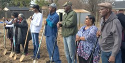 SEVEN YEARS OF WAITING—At long last, former residents of Pinhook Village broke ground Jan. 26 on new homes after a levee was blown by the Army Corps of Engineers in 2011 to alleviate disastrous flooding to a more populated area along the Mississippi. (The Mirror)